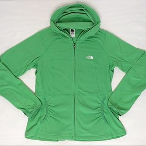 The North Face Green Fleece Hoodie Full Zip Jacket